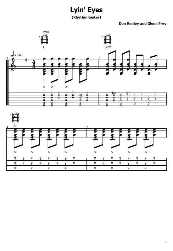 Lying Eyes Tabs The Eagles - How To Play Lying Eyes The
