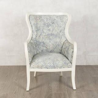 Sillon Clasico Blanco Tapizado Colores Roble Acker