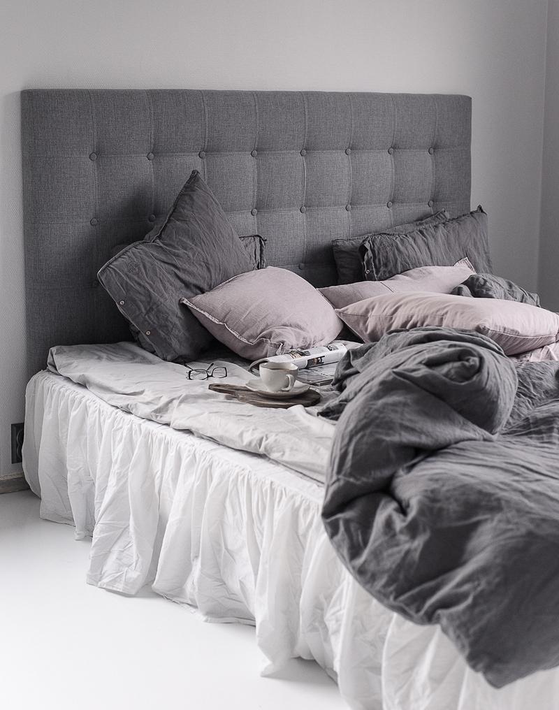 Home 2 Tiny Sovrum i grått, vitt och rosa