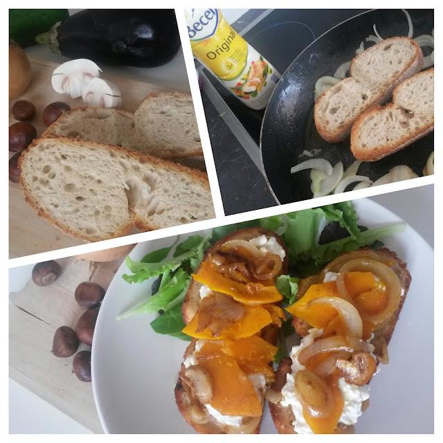 recette tartine d 'automne potimaron
