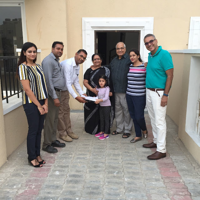 An Emaar MGF customer taking handover of his unit at Emerald Hills Sector-65 on Golf Course Extension Road