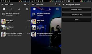 BBM Mod Dark Grey v3.0.1.25 Apk Terbaru