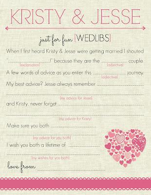 DIY Mad Libs for Wedding - Wed-Libs Cards