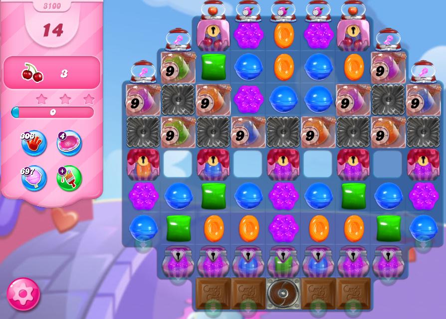 Candy Crush Saga level 3100