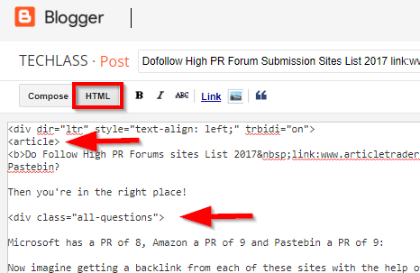 How to Add Table of Contents in Blogger Post