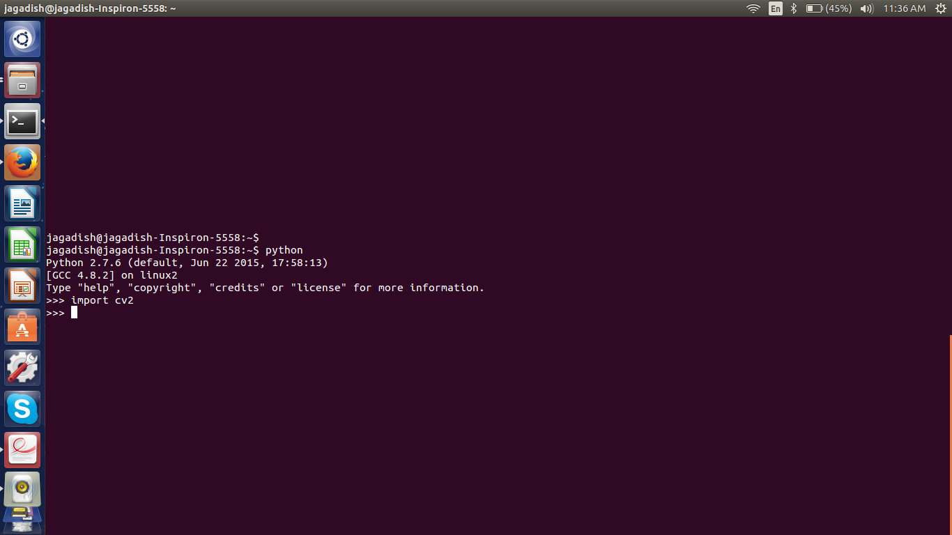 how to install opencv python and c   in ubuntu 14 04 lts
