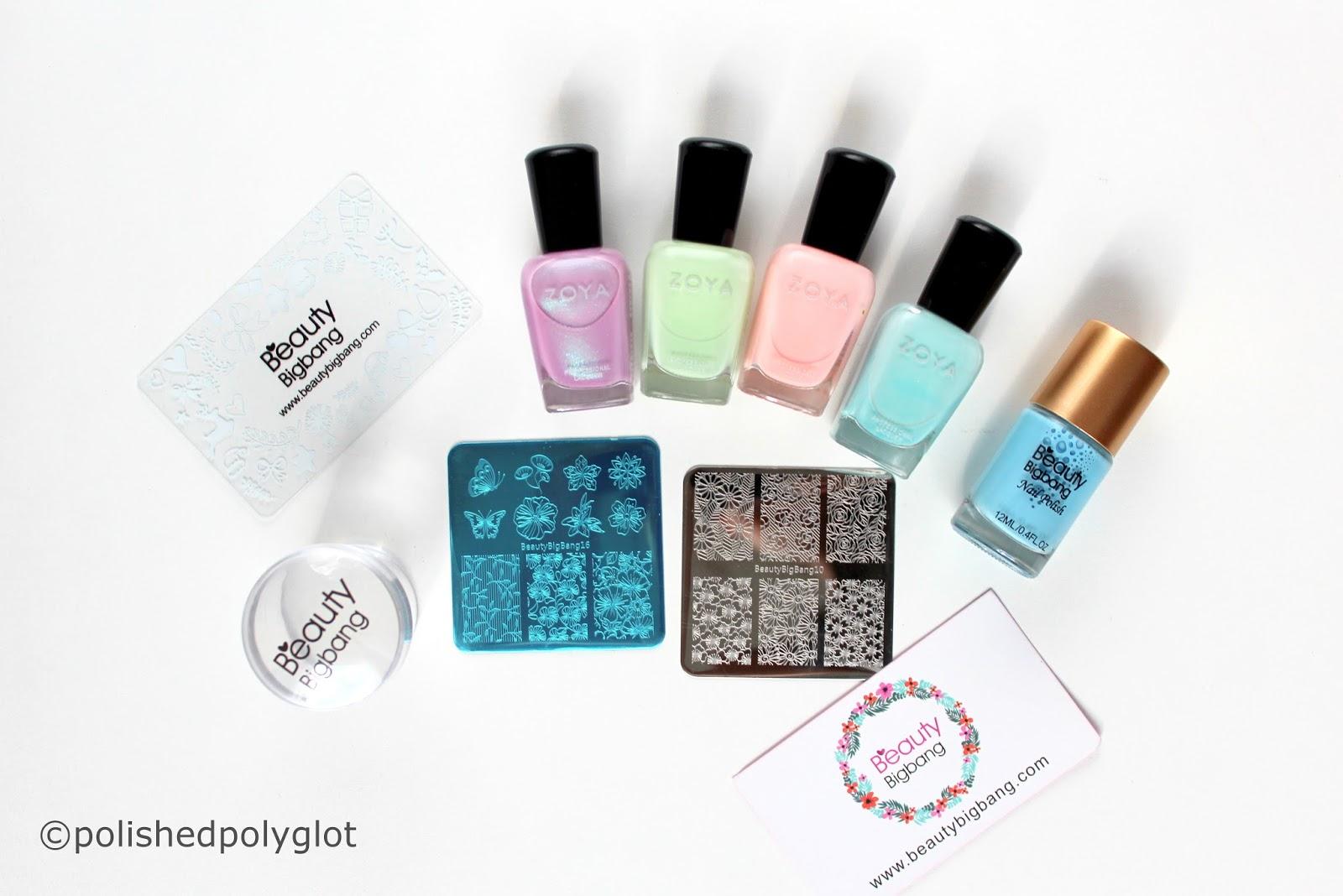 Nail Art │ Pastel Watercolour Nail Design using BeutyBigBang ...