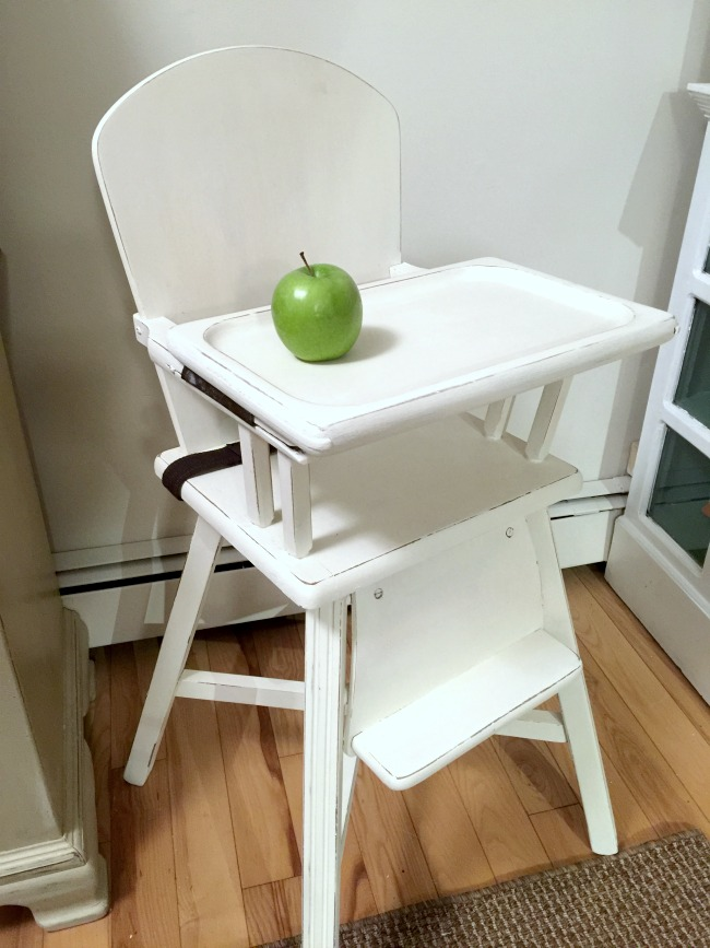 Painted Vintage Baby Highchair www.homeroad.net