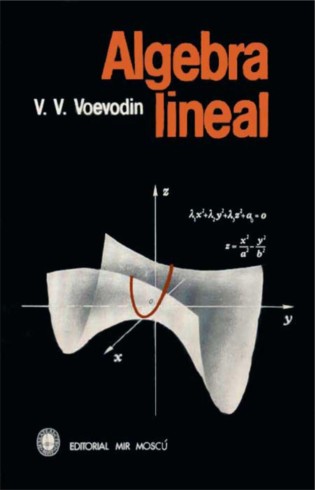 ALGEBRA LINEAL V. V. Voevodin | Libros Digitales en pdf gratis