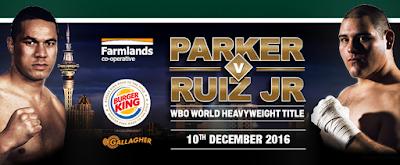 Boxing : Joseph Parker vs. Andy Ruiz for Heavyweight Title