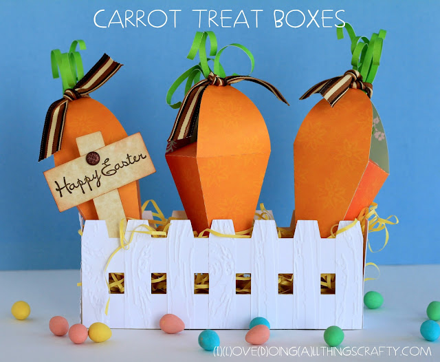 Carrot Patch Paper Garden | Easter Treat Boxes