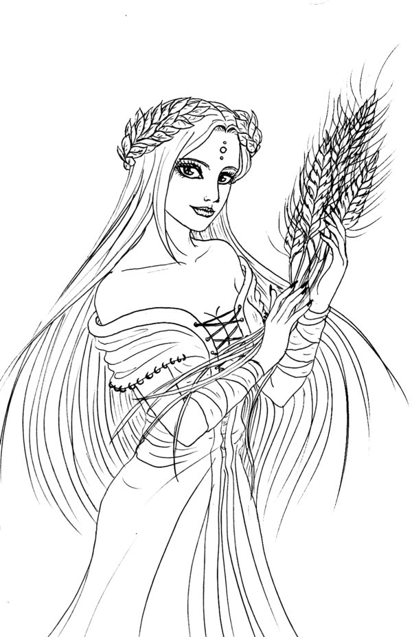 persephone coloring pages - photo #10