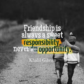 Display Picture Gratis Khalil Gibran Friendship