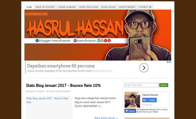 10 Terpopular Blog HasrulHassan 2016