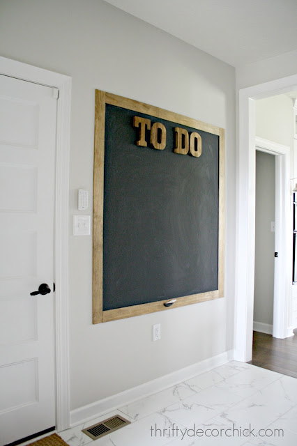 TO DO chalkboard with stained frame
