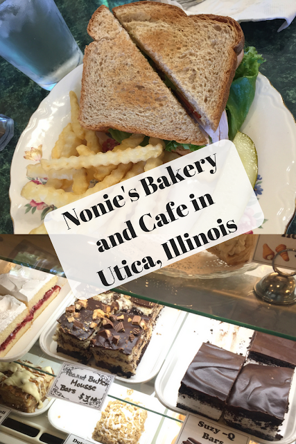 Nonie's Bakery and Cafe in Utica, Illinois provides a great spot for lunch or breakfast when visiting Starved Rock or Matthiessen