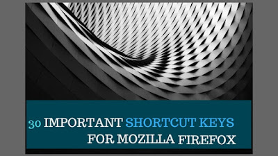Important short keys of Mozilla a Firefox.