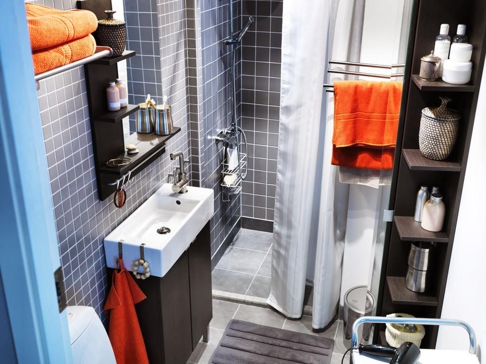 Fotos con ideas de baños pequeños   colores en casa