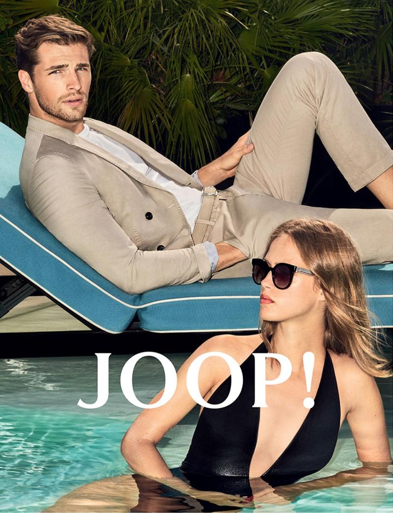 Joop Spring/Summer 2018 Campaign featuring Julia Jamin