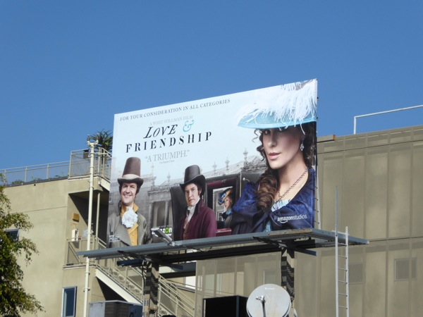 Love Friendship movie FYC billboard