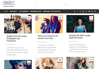 Remito Grid Blogger Template