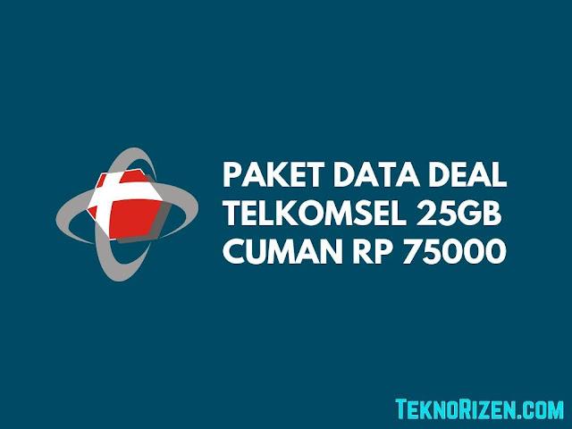 Bukan hanya toko online saja yang merayakan hari belanja online nasional  Paket Internet Data Deal Telkomsel 25++GB Cuma Rp 75+000