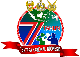 logo hut tni ke 71 th png