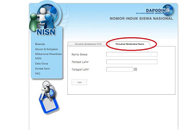 yang berfungsi untuk mengidentifikasi data siswa secara nasional Cara Praktis Cek/Mencari NISN Siswa Secara Online