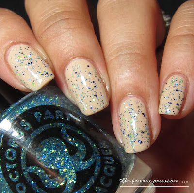 nail polish swatch of Blest be the tide that binds by indie polish maker Octopus party nail lacquer OPNL