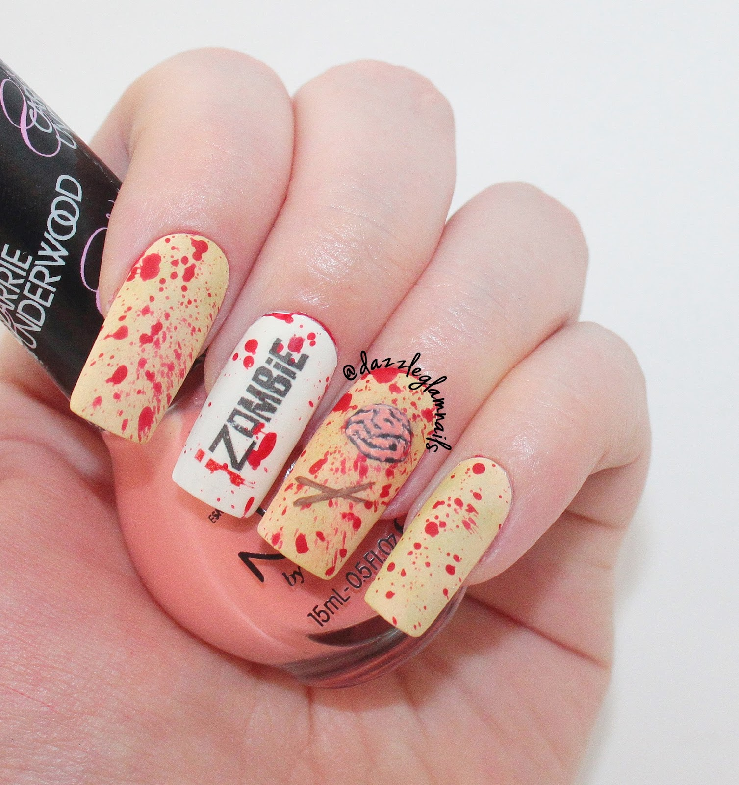 Dazzle Glam Nails   Nail Art Blog: iZombie Nails