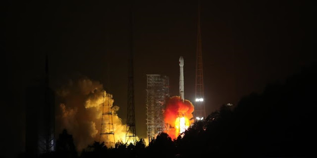 Long March 3B lifts off with two BeiDou-3 satellites on January 11, 2018. Photo Credit: Xinhua/Liang Keyan