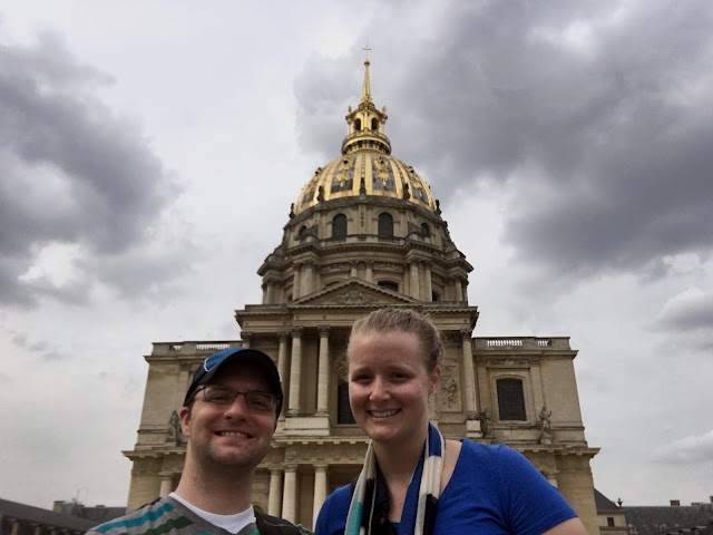 Ben and Meagan outside Napoleon's tomb.