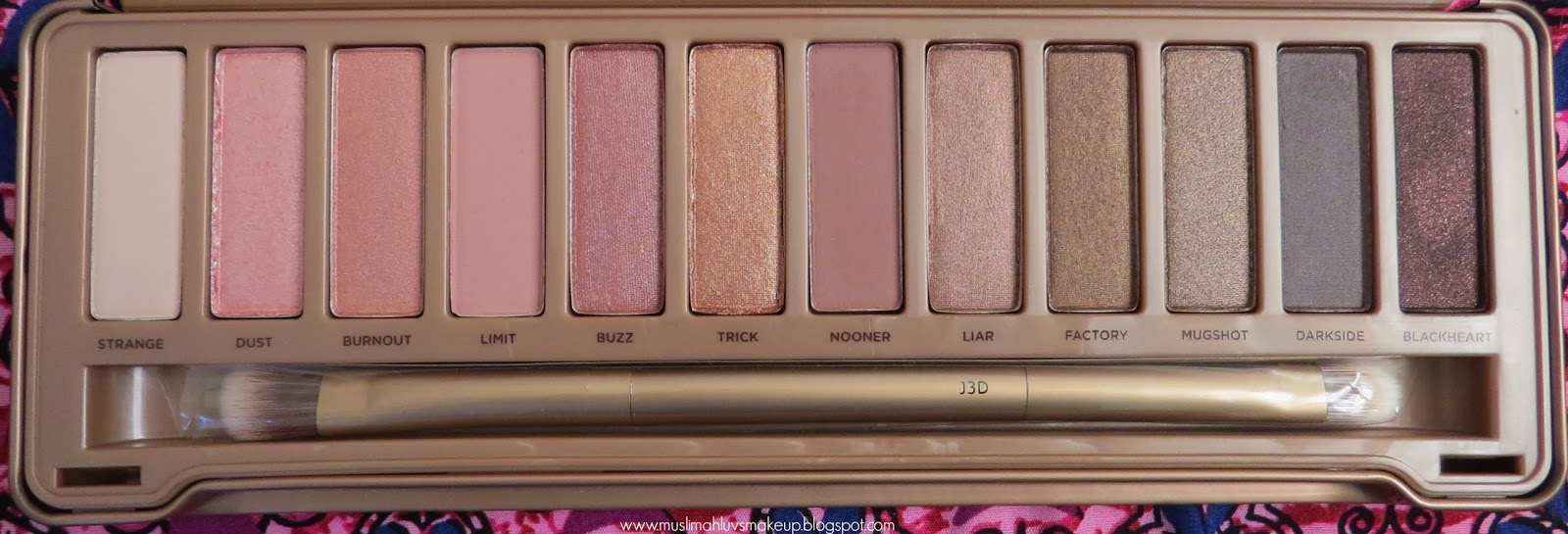 Muslimahluvsmakeup Urban Decays Naked 3 Eyeshadow -9954