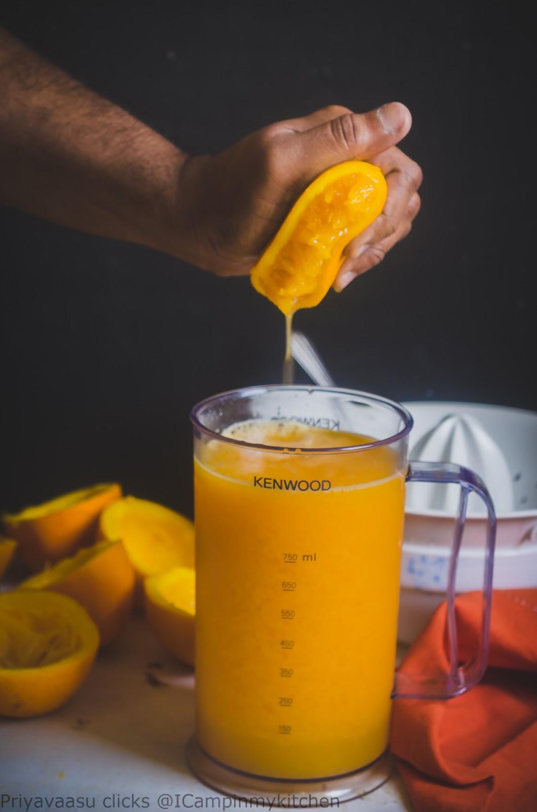 Orange Jelly/Orange Jelly using China grass/Agar-Agar - Vegan ~ I