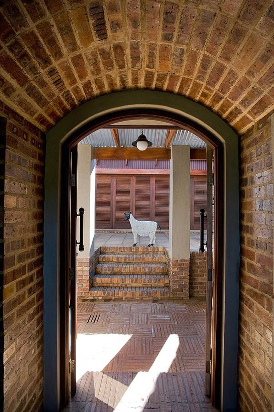 Safari Fusion blog | Klompie bricks | Entrance to a Johannesburg getaway, Dullstroom South Africa