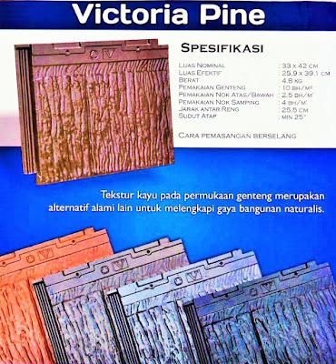 varian victoria pine genteng beton flat cisangkan jogja yogyakarta