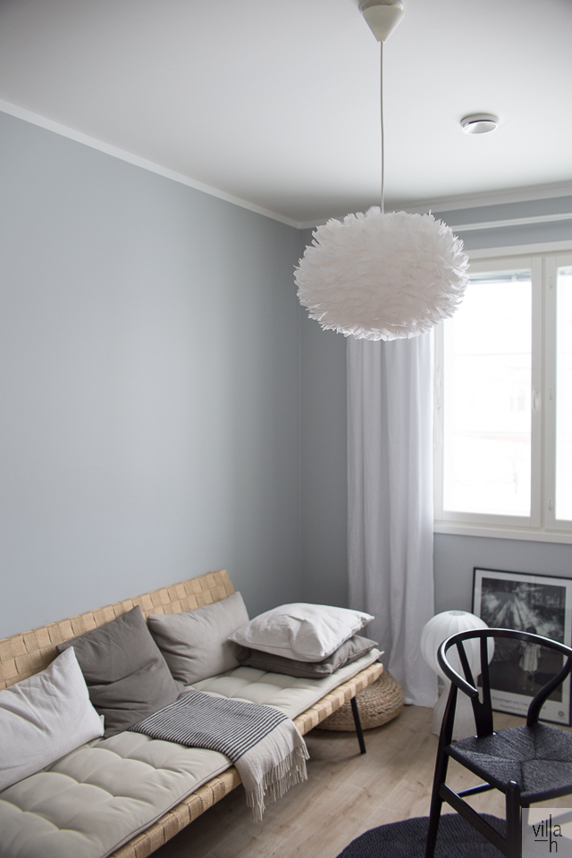 sinnerlig sohva, interior, villa h, työhuone