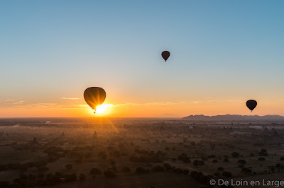Ballon - mongolfière - lever de soleil - sunrise - Bagan
