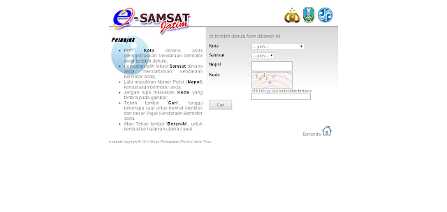 Catatan Ikrom Cara Cek Pajak Kendaraan Bermotor Jawa Timur Online 1