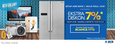 BCA Gallery Ekstra Diskon 7% setiap Senin - Blibli