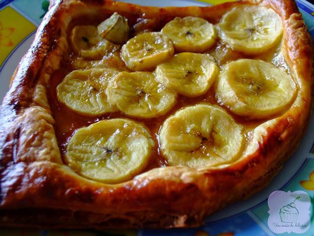Tartes feuilletées à la banane caramélisée