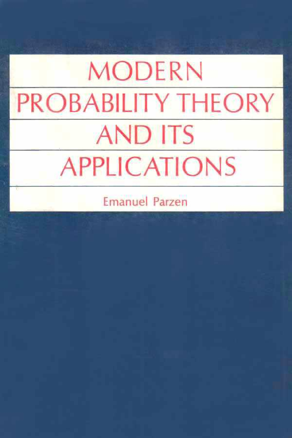 Modern probability theory and its applications – Emanuel Parzen