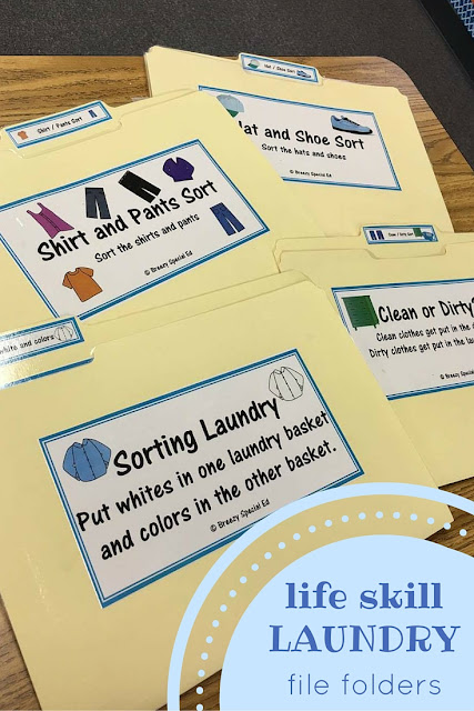 Laundry and Clothing Life Skill Practice for Special Education