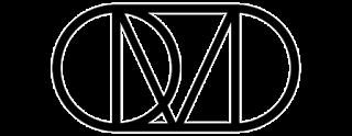 Logo OMD con las letras negras y redondas entrelazadas formando un óvalo