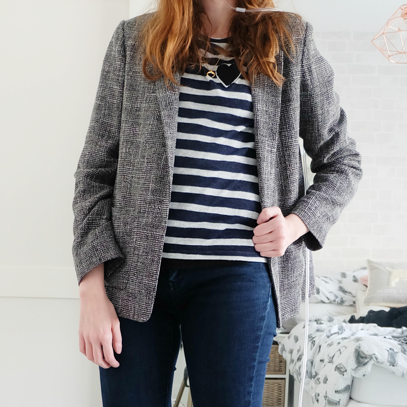 topshop tonic check boyfriend jacket