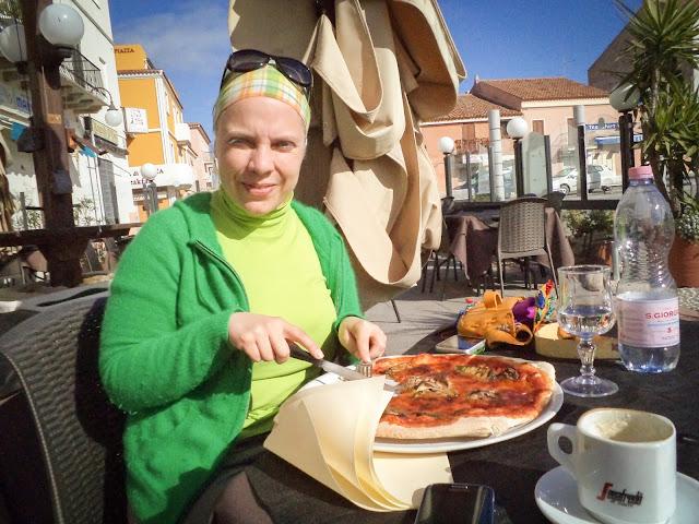 Aubergine pizza, Santa Teresa di Gallura
