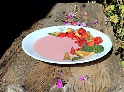 Erdbeerjoghurtsuppe