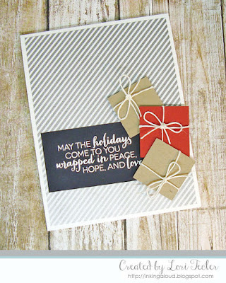 Wrapped in Peace, Hope, and Love card-designed by Lori Tecler/Inking Aloud-stamps from Clear and Simple Stamps