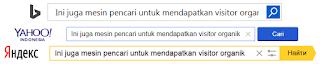 Bing Yahoo Yandex Juga Mesin Pencari Organik