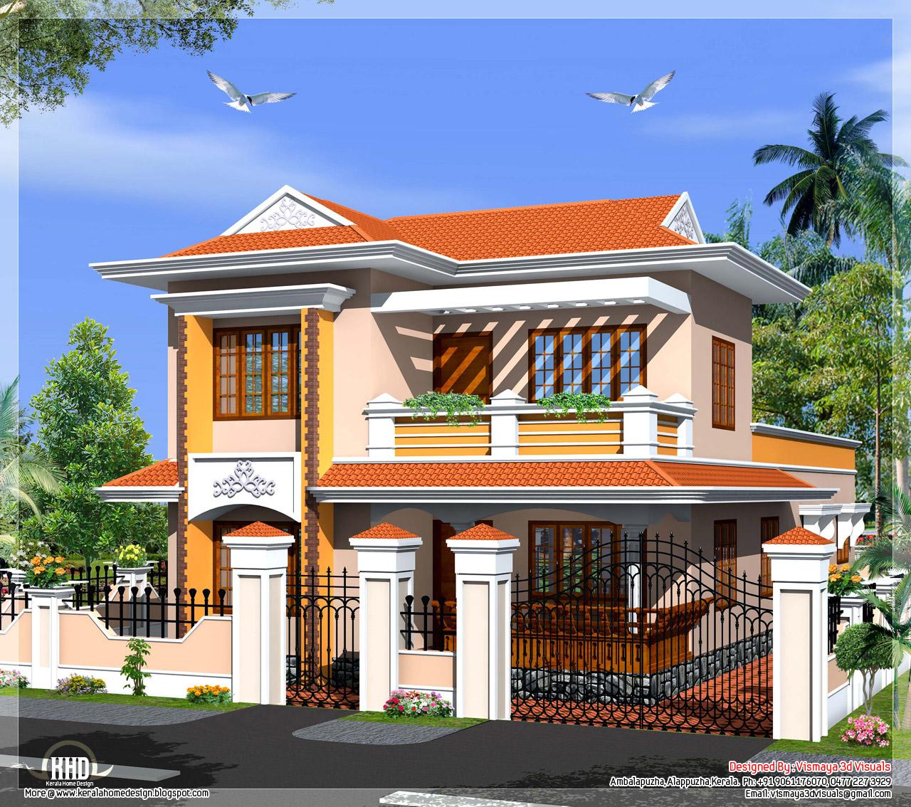 Architecture Design Kerala Model simple architecture design kerala model western style villa at